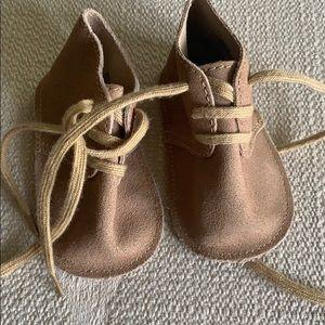 Gap Baby Biy lace up Moccasin 6-12m NWOT